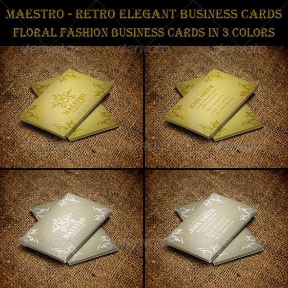 Maestro Retro Elegant Business Cards