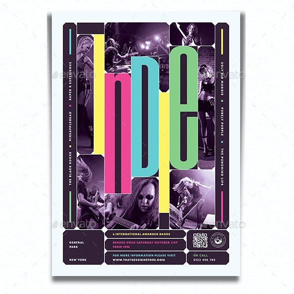 Indie Fest Flyer Template V10