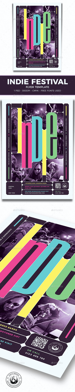 Indie Fest Flyer Template V10 - Concerts Events