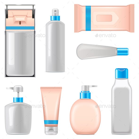 Vector Antiseptic Packaging Icons