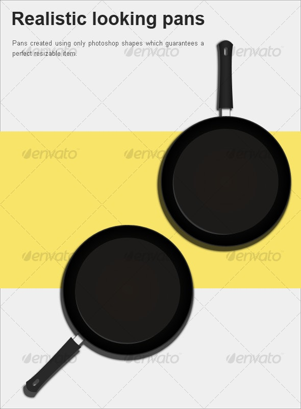 Realistic looking pans - Miscellaneous Product Mock-Ups