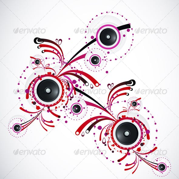 Abstract Vector Pattern With Speakers