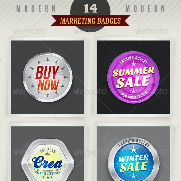 14 Modern Marketing Badges