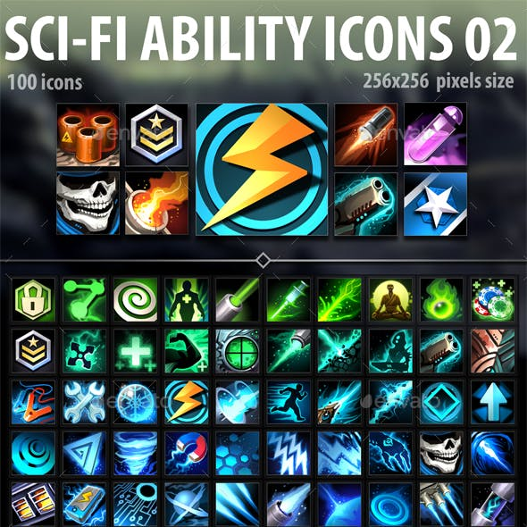 Sci-Fi Ability Icons 02