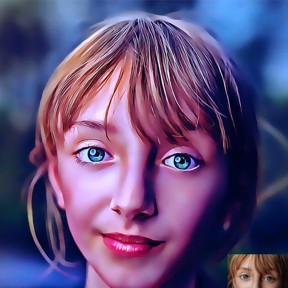Retouch Portrait Oil Painting Action