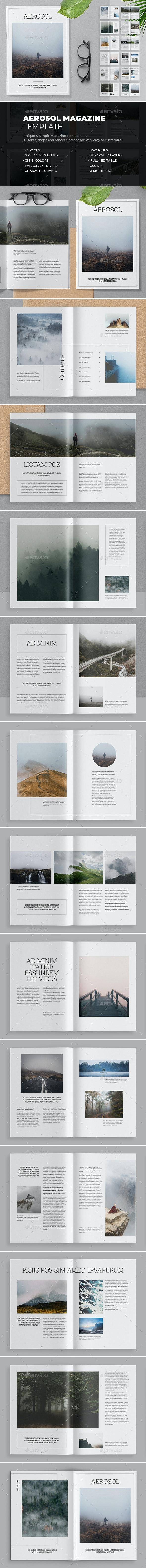 Aerosol Magazine Template - Magazines Print Templates