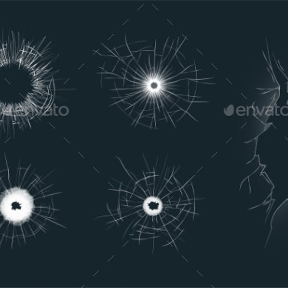 Set of 5 Different Crack Effects