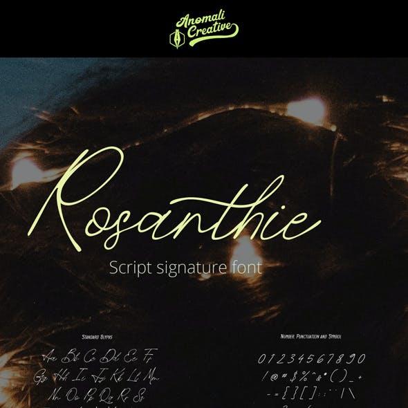 Rosanthie - Script Signature Fonts