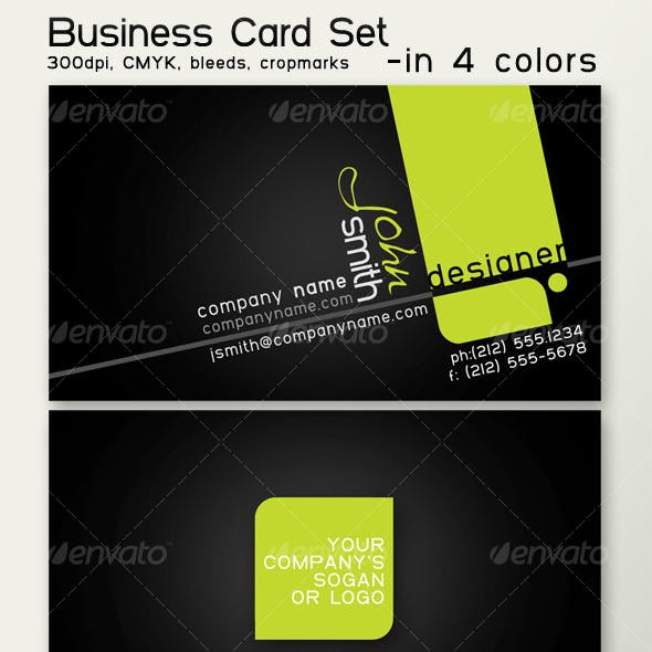 Business card in 4 colors