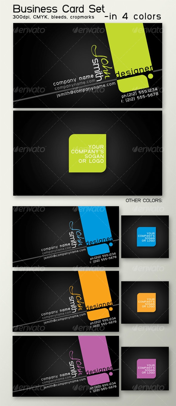 Business card in 4 colors - Creative Business Cards