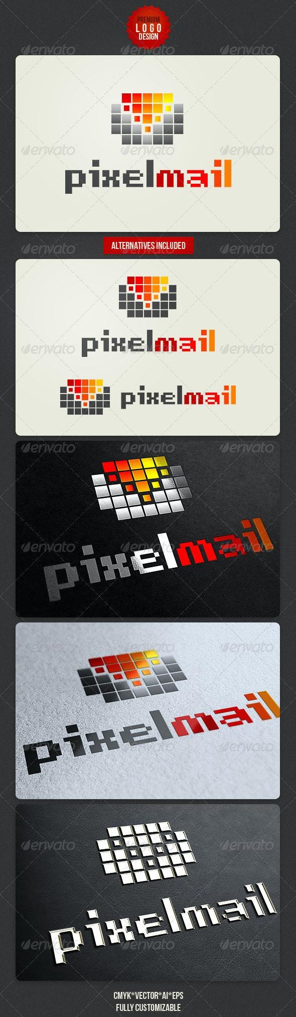 Pixel Mail Logo Design - Symbols Logo Templates
