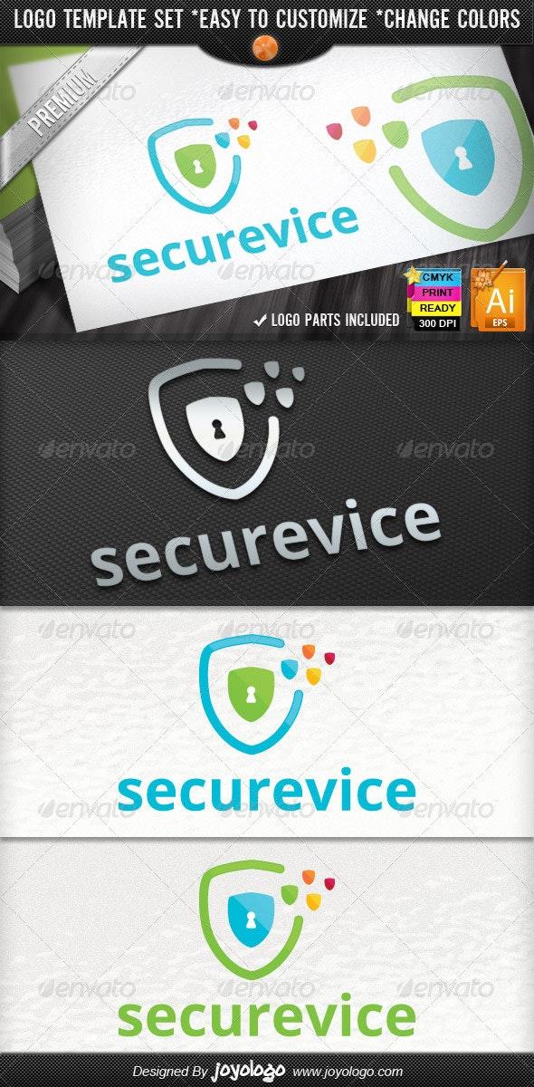 Pixel Shields Pro IT Security Service Logo Design - Symbols Logo Templates