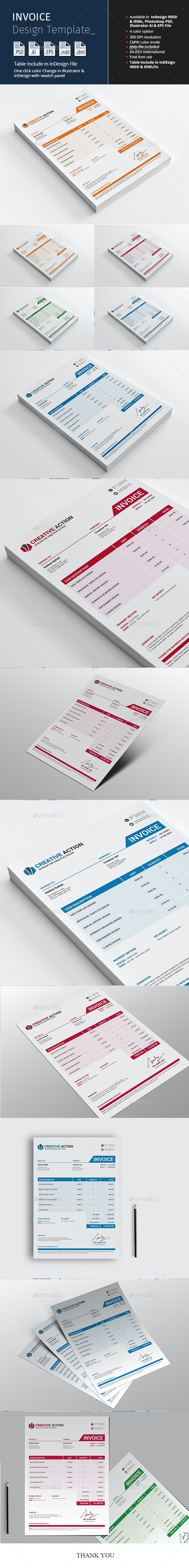 Invoice Design Template - Proposals & Invoices Stationery