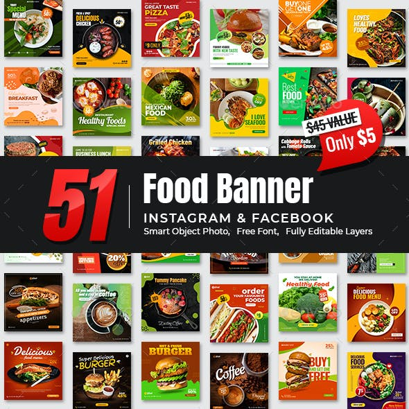 51-Instagram & Facebook Food Banners