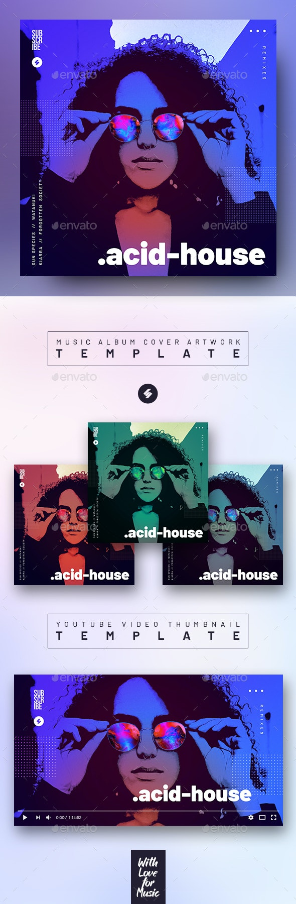 Acid House – Music Album Cover Artwork Template - Miscellaneous Social Media