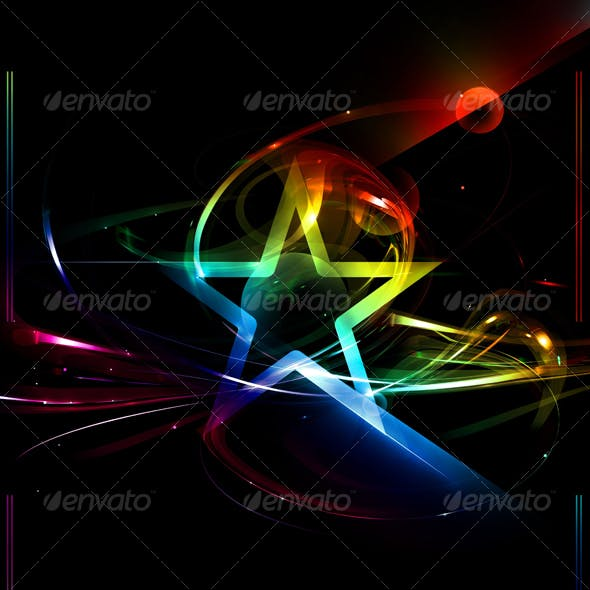 Beautiful Abstract Fantasy Background With Star