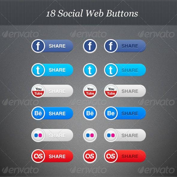 18 Social Web Buttons