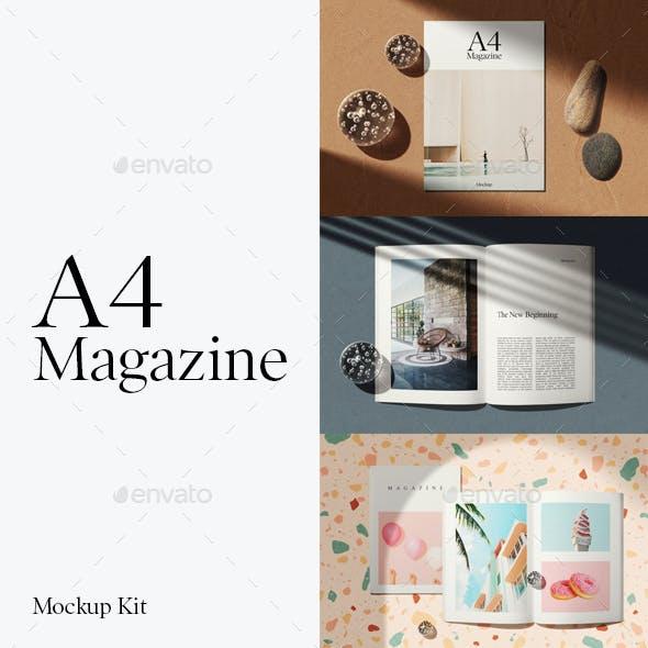A4 Magazine Mockup Kit