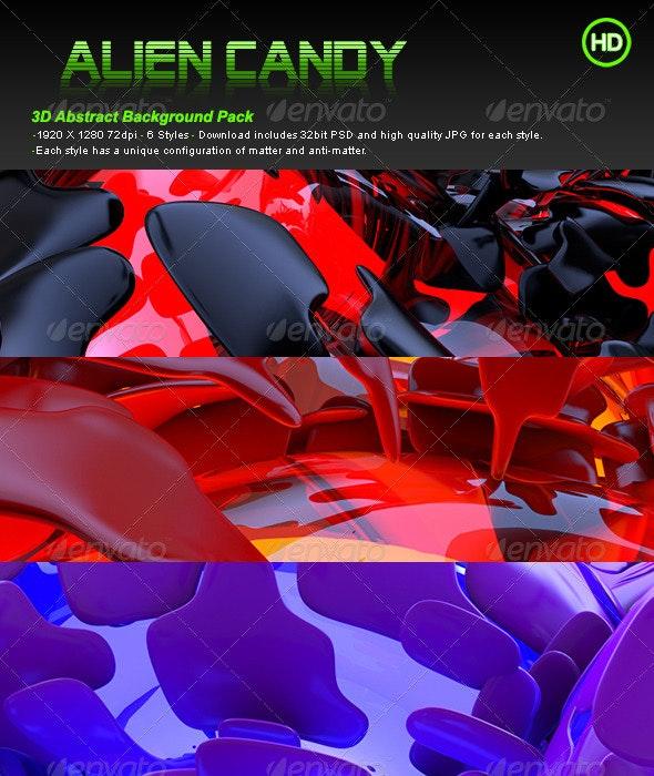 Alien Candy - 3D Backgrounds