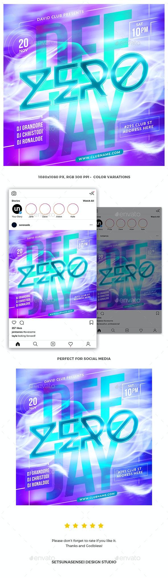 Deejay Instagram Flyer - Social Media Web Elements
