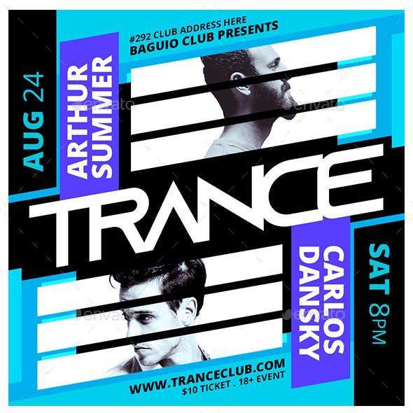 Trance Instagram Flyer