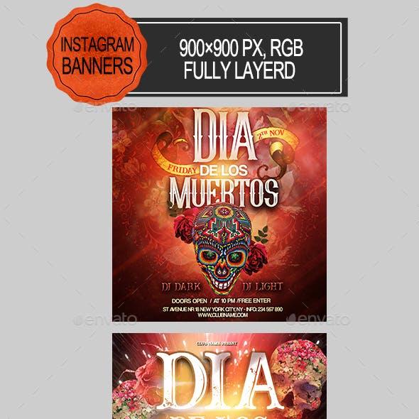 Dia De Los Muertos Instagram Banners