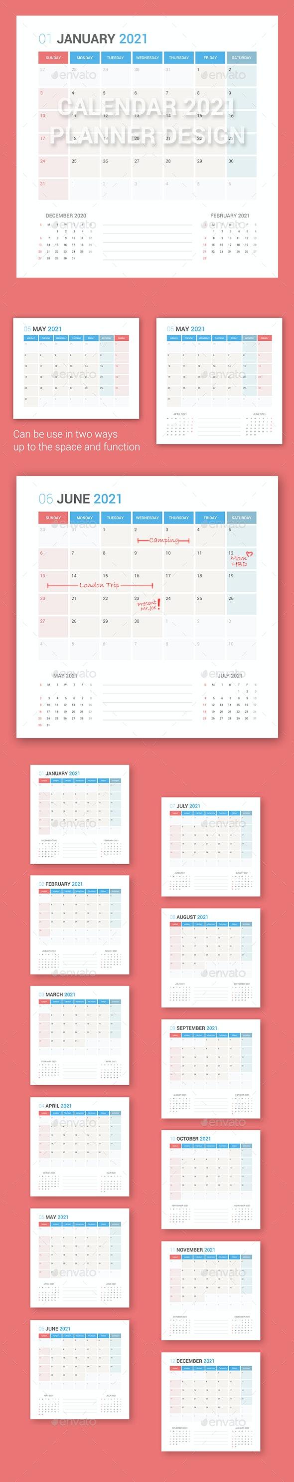 Calendar 2021 Planner Design - Miscellaneous Characters