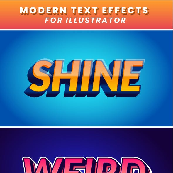 Modern Text Effects for Illustrator