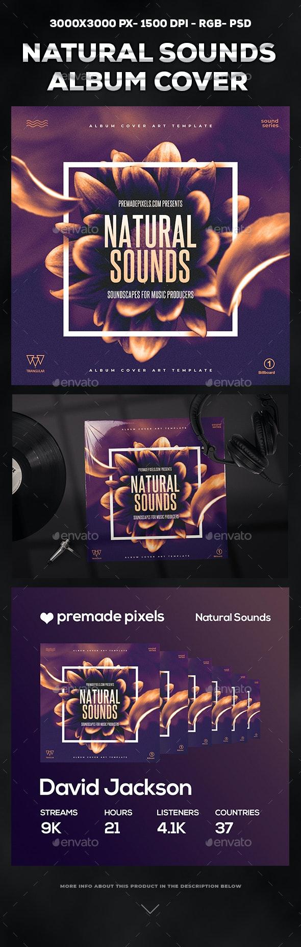 Natural Sounds Album Cover - Web Elements