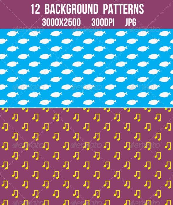 12 Background Patterns - Patterns Backgrounds