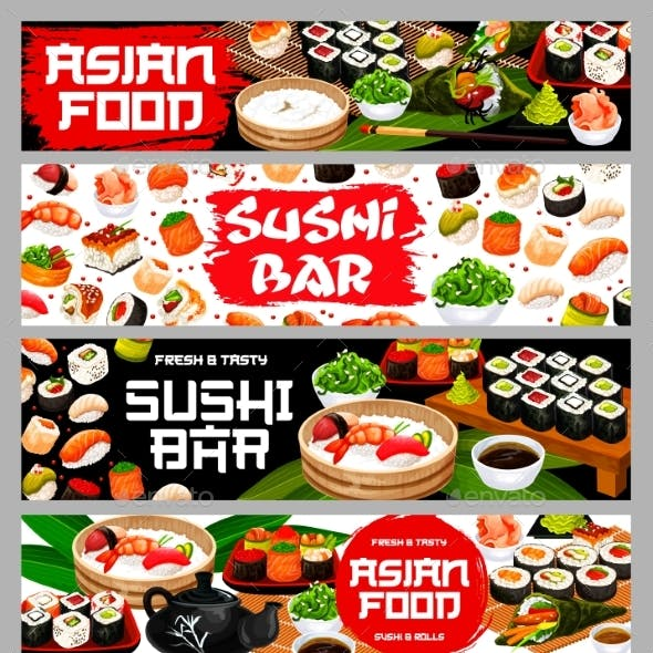 Asian Food Sushi and Rolls Japanese Restaurant