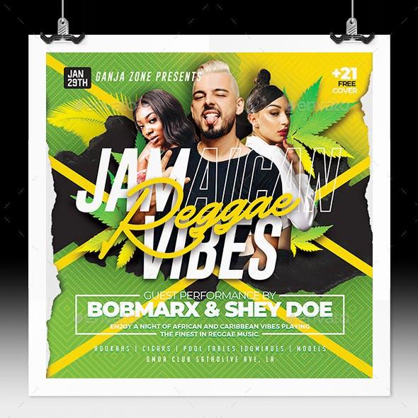 Jamaican Reggae Music Flyer
