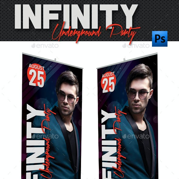 Infinity Party Event Banner