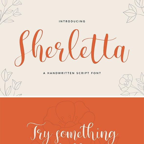 Sherletta Handwritten Font