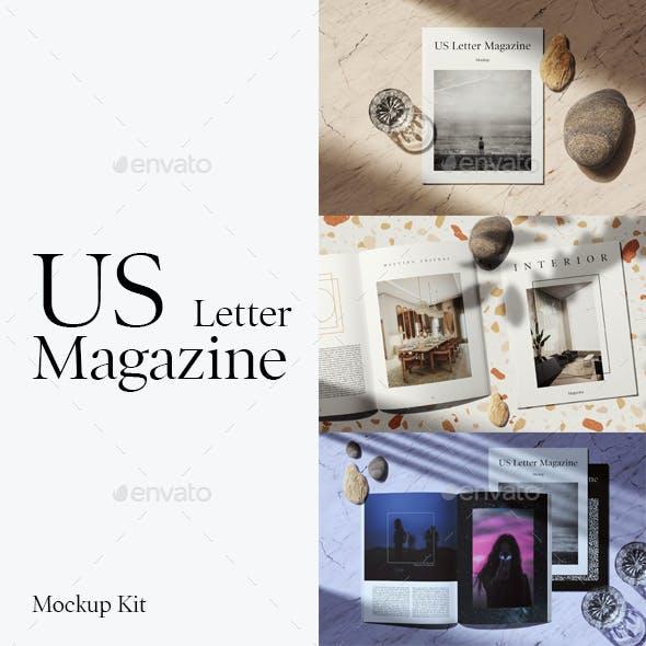 US Letter Magazine Mockup Kit