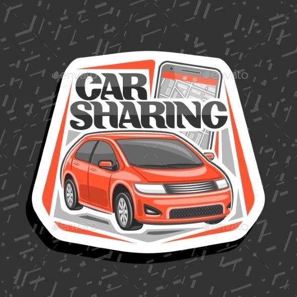 Vector Car Sharing Emblem