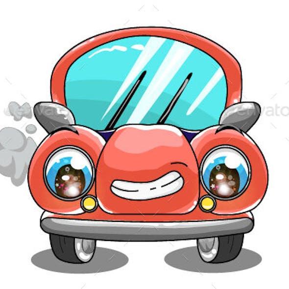 Red Cars Design Transportation Cartoon