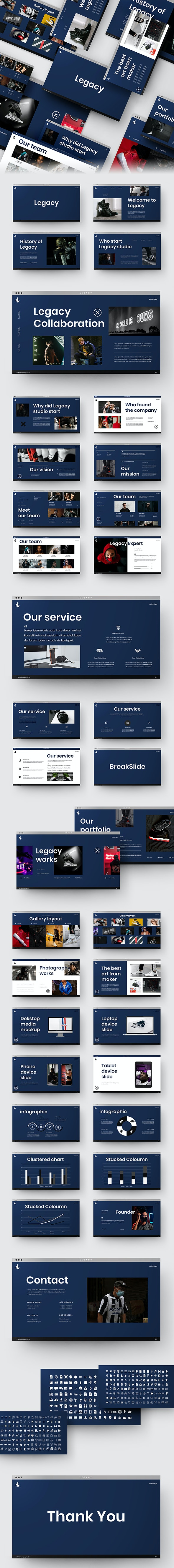 Legacy – Portfolio and Photography PowerPoint Template - Business PowerPoint Templates