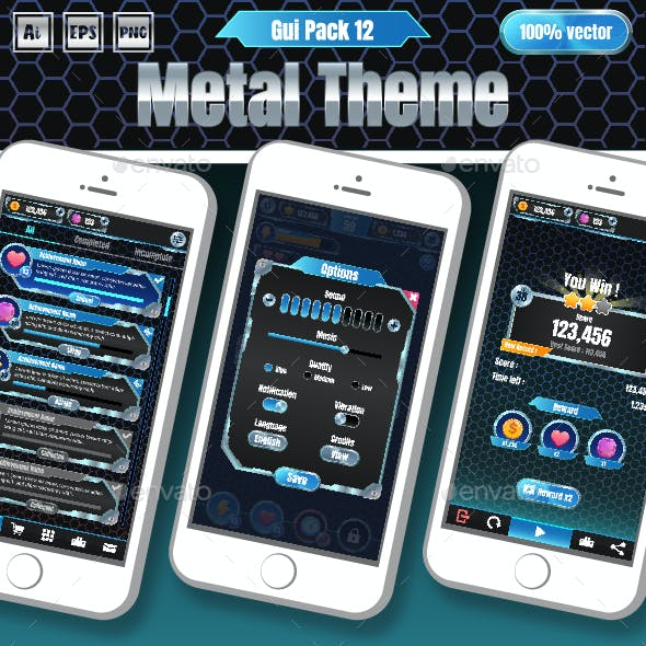 Metal Theme GUI Pack 12
