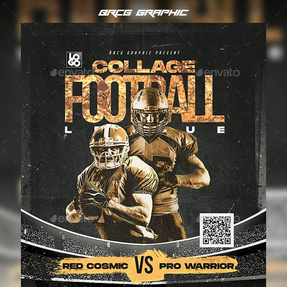Football Collage Flyer