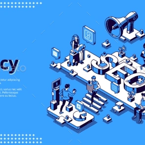 Vector Landing Page for SEO Agency