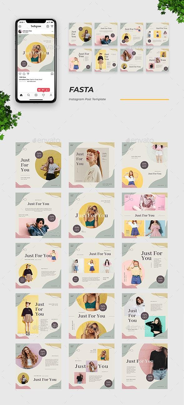 Fasta Instagram Post Template - Social Media Web Elements