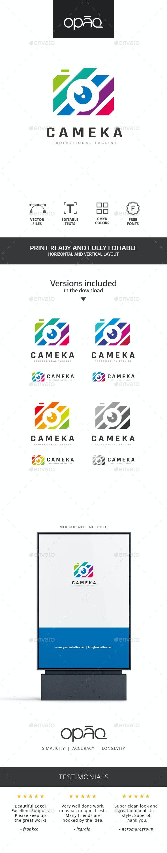 Camera Colorful Stripes Logo - Objects Logo Templates