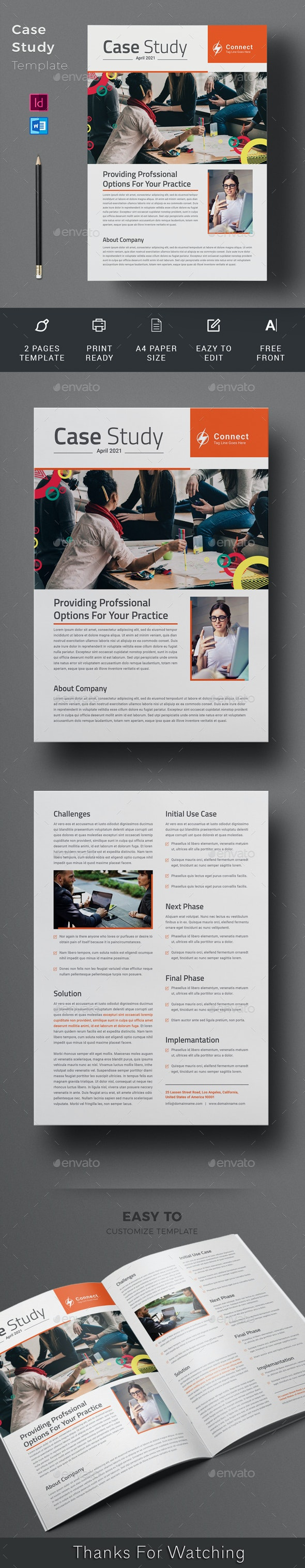 Case Study Template - Newsletters Print Templates