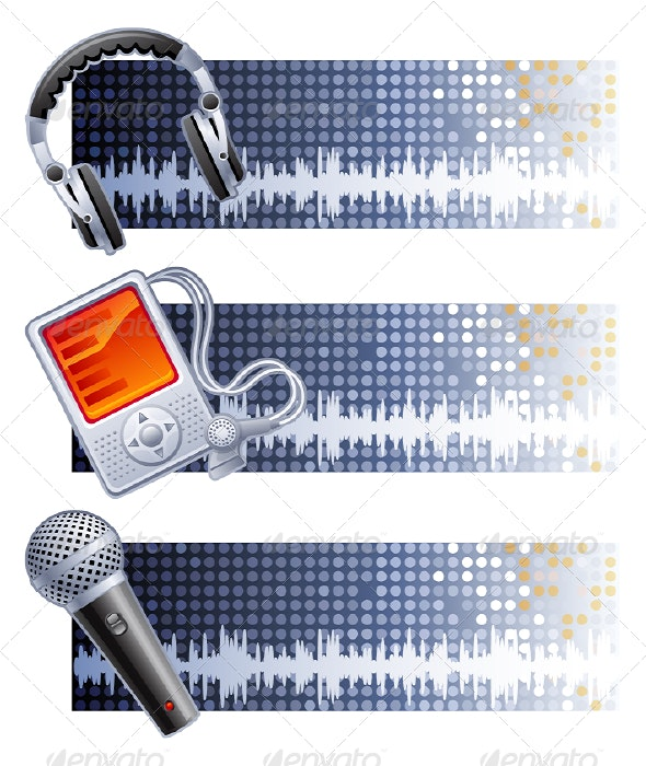 Music banners - Backgrounds Decorative