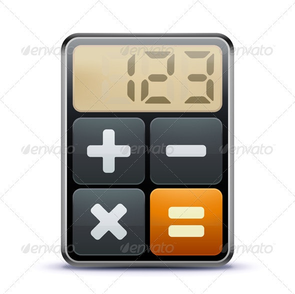 Calculator icon - Conceptual Vectors