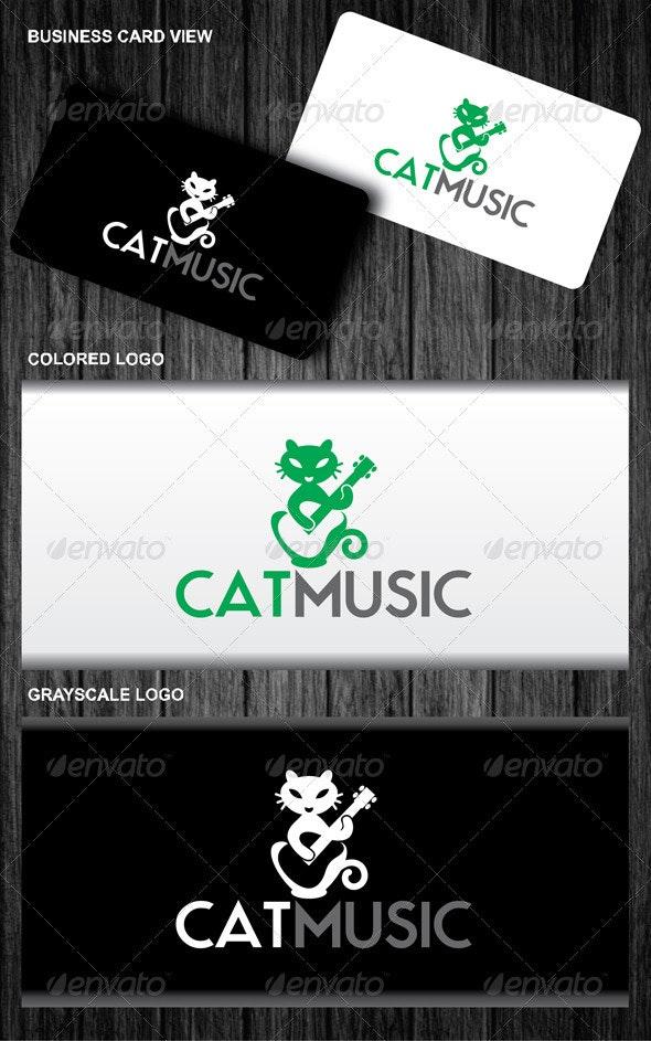 Music Cat Logo - Animals Logo Templates