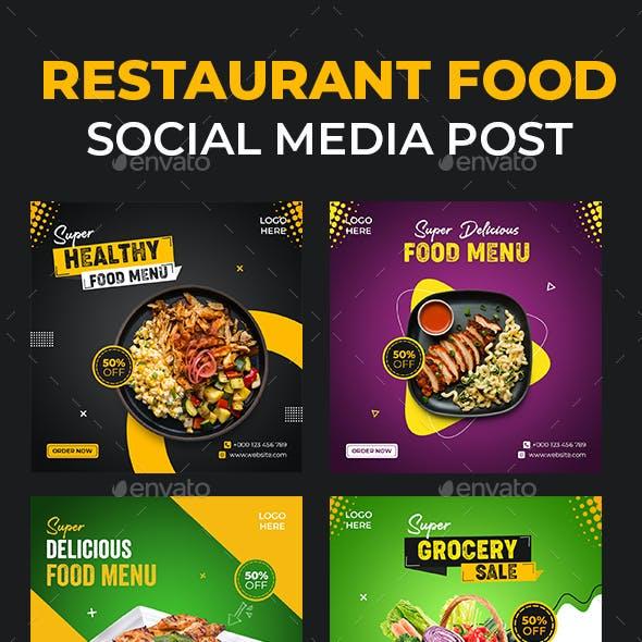 Food Set Social Media Template