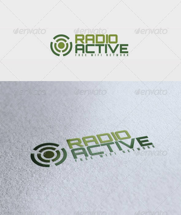 Radioactive Logo - Vector Abstract