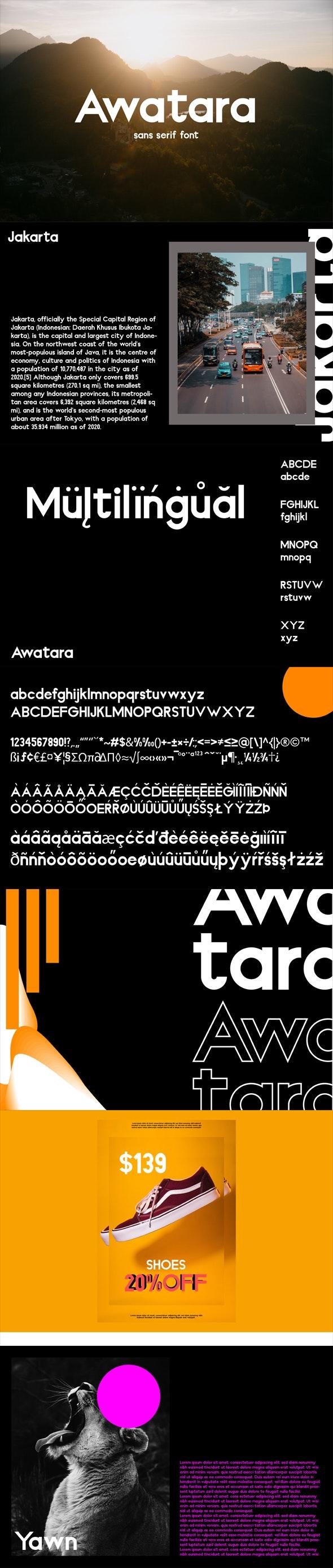 Awatara Sans Serif - Sans-Serif Fonts